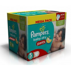 Pampers - Mega pack 192 Couches Baby Dry Pants taille 5