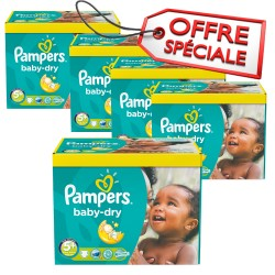 Pampers - Mega pack 196 Couches Baby Dry taille 5+ sur Couches Poupon